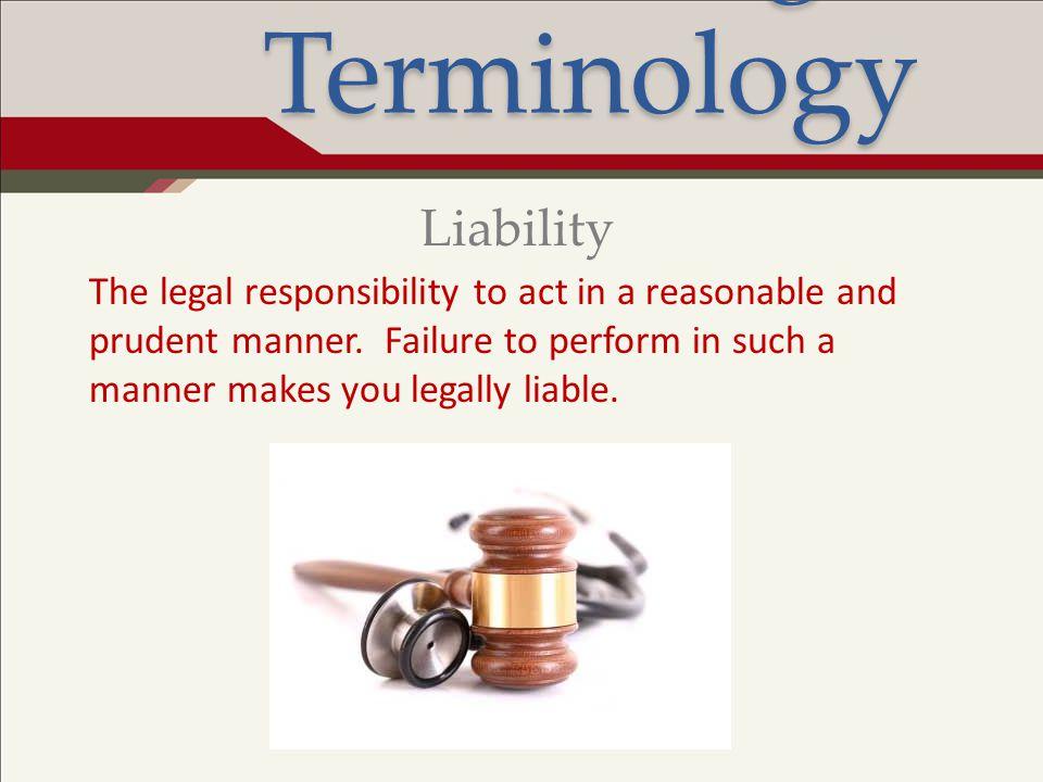 Legal Terminology Liability