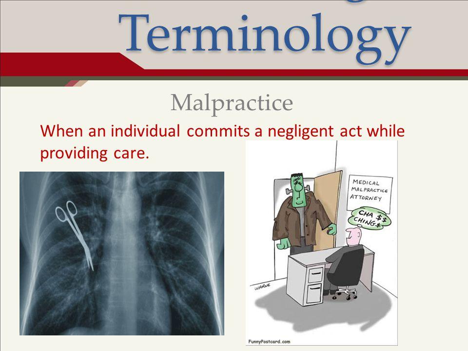 Legal Terminology Malpractice
