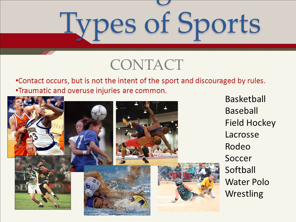Risk Management: Types of Sports