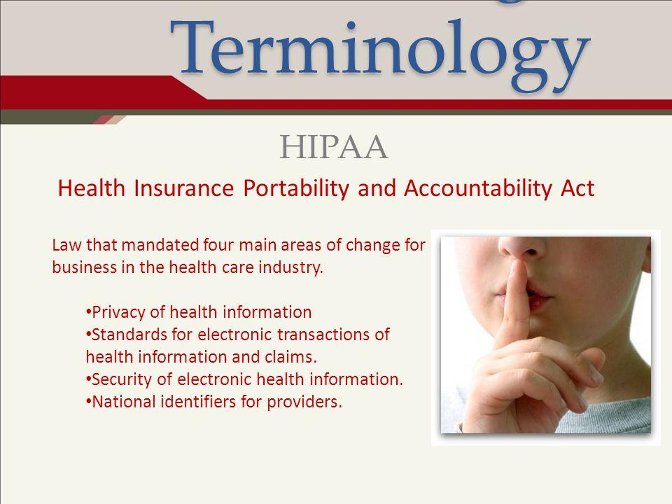 Legal Terminology HIPAA