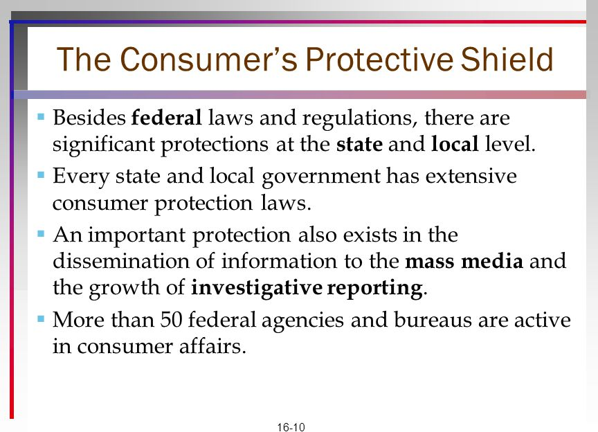 The Consumer's Protective Shield