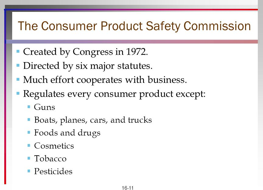 The Consumer Product Safety Commission