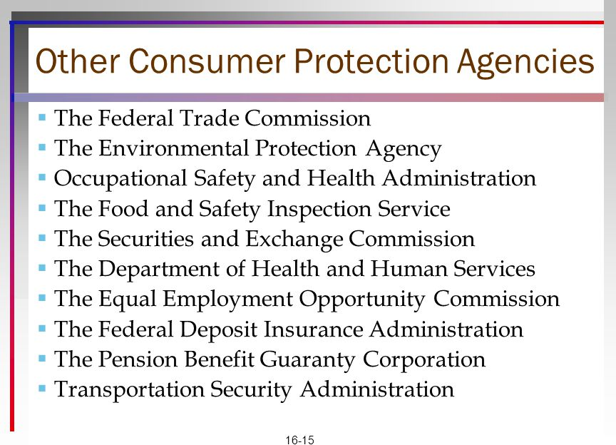 Other Consumer Protection Agencies