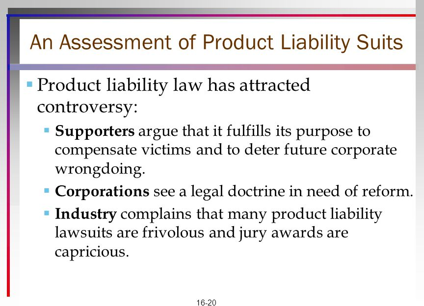 An Assessment of Product Liability Suits