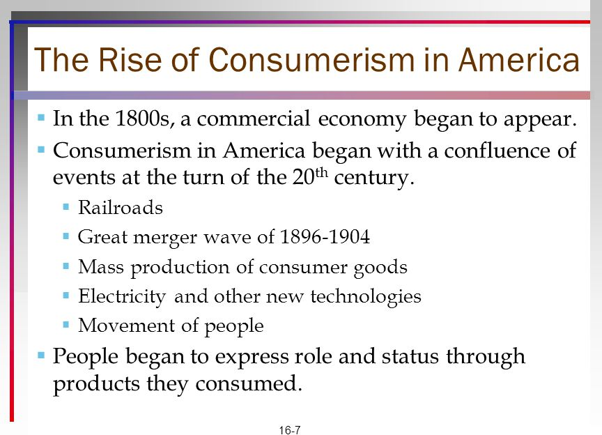 The Rise of Consumerism in America