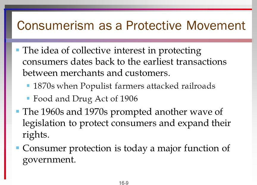 Consumerism as a Protective Movement