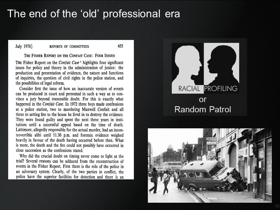 The end of the 'old' professional era