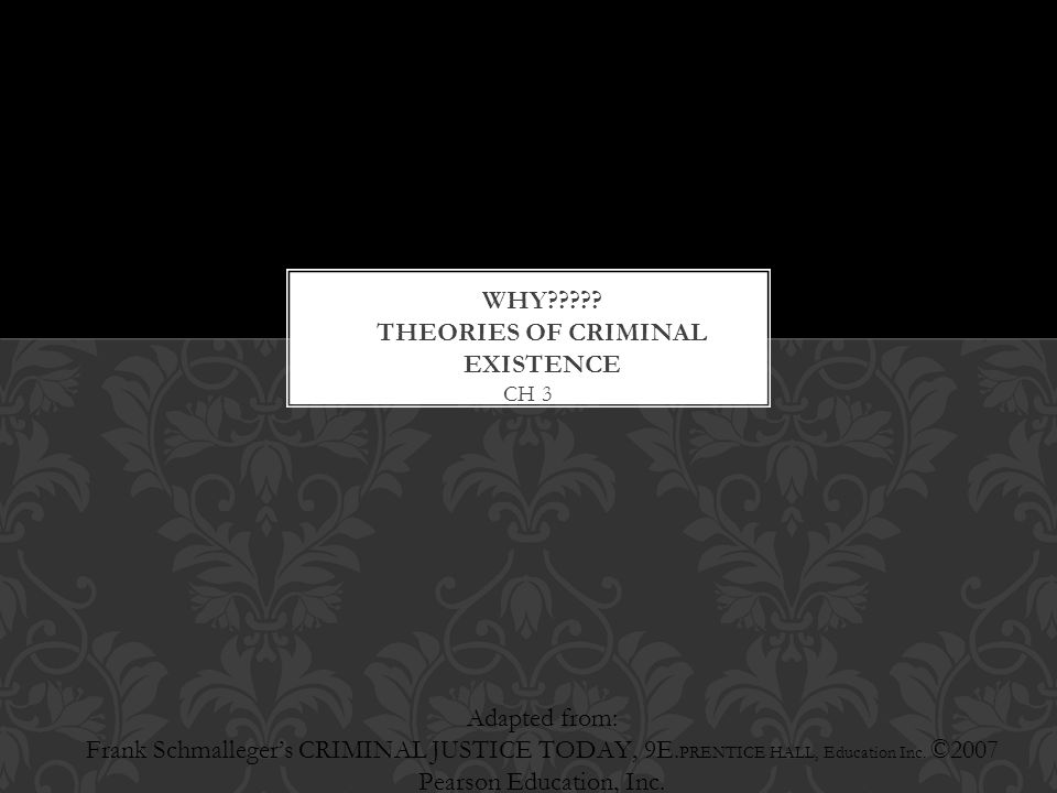 Why Theories of criminal existence