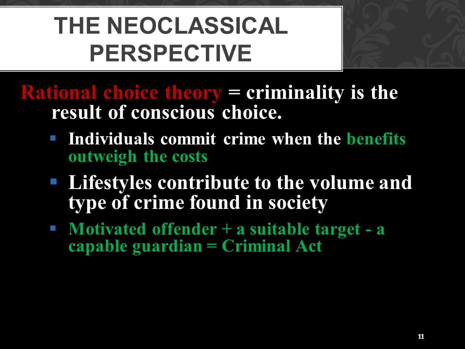 The Neoclassical Perspective