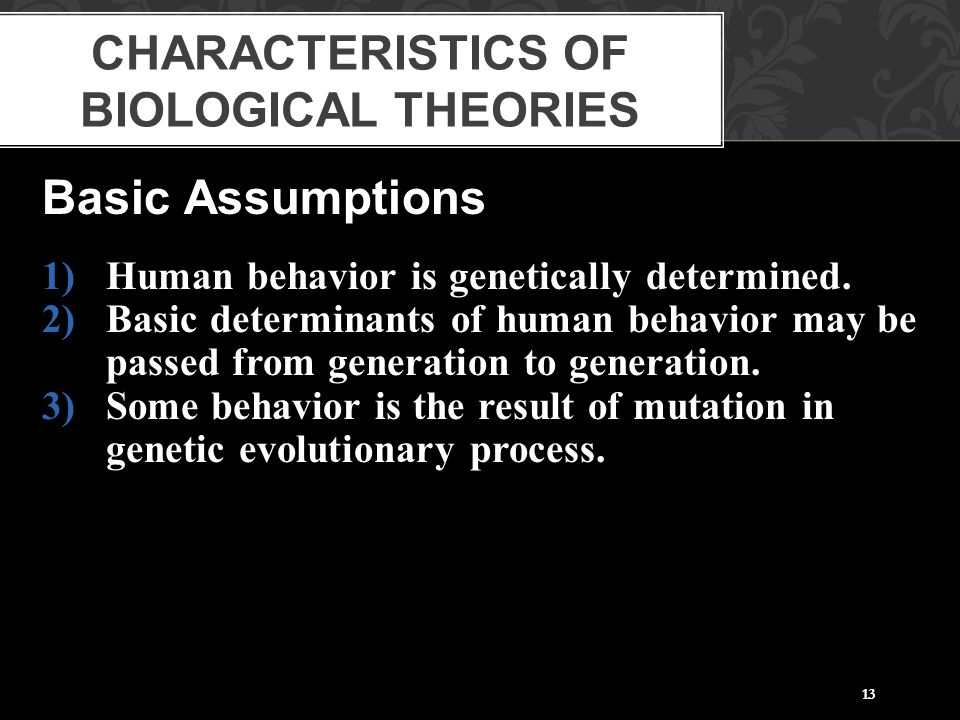 Characteristics of Biological Theories