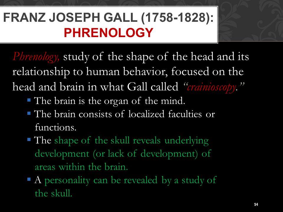 Franz Joseph Gall (1758-1828): Phrenology