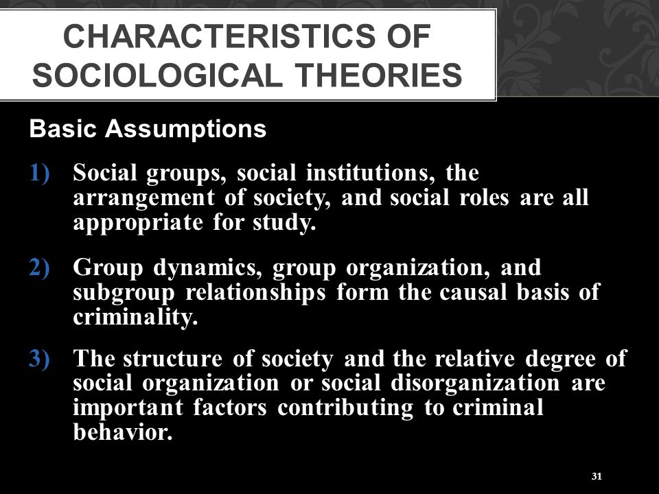 Characteristics of Sociological Theories