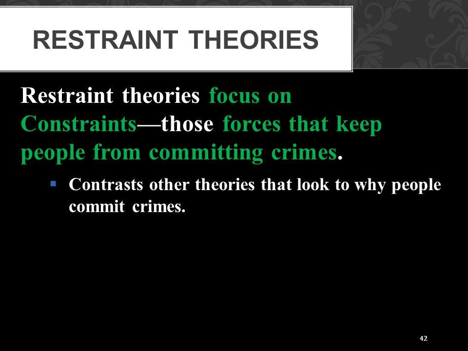 Restraint Theories Restraint theories focus on
