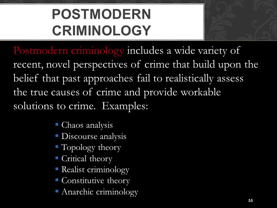 criminology the evolution of crime Criminological schools of thought in the mid-18th century, criminology arose as social philosophers gave thought to crime and concepts of law over time, several schools of thought have developed there were three main schools of thought in early criminological theory spanning the period from the mid-18th century to the mid-twentieth century: classical, positivist, and chicago.