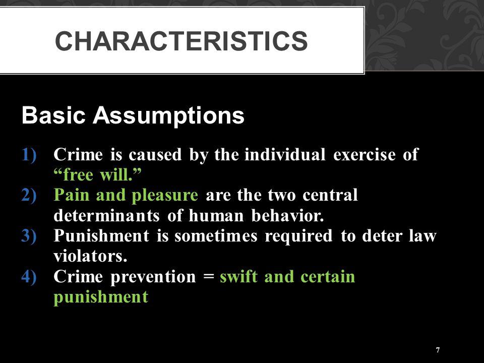 Characteristics Basic Assumptions