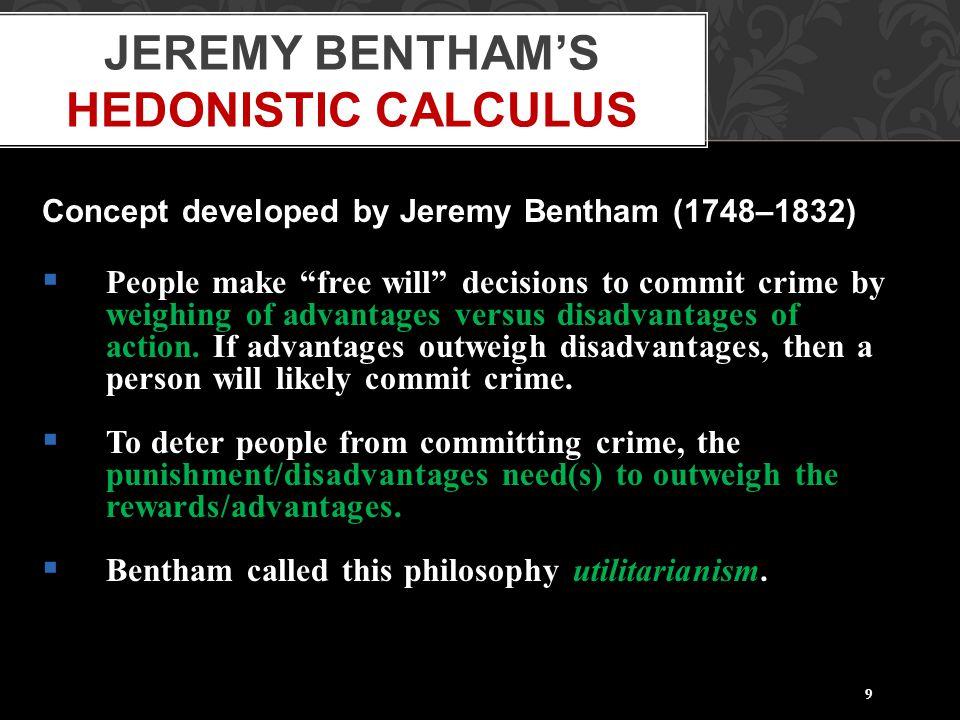 Jeremy Bentham's Hedonistic Calculus