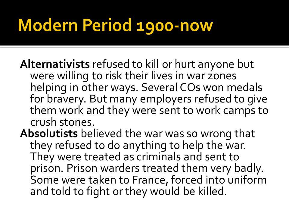 Modern Period 1900-now