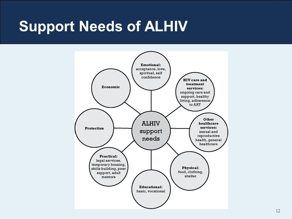 Support Needs of ALHIV