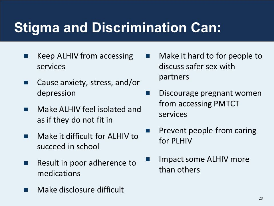 Stigma and Discrimination Can: