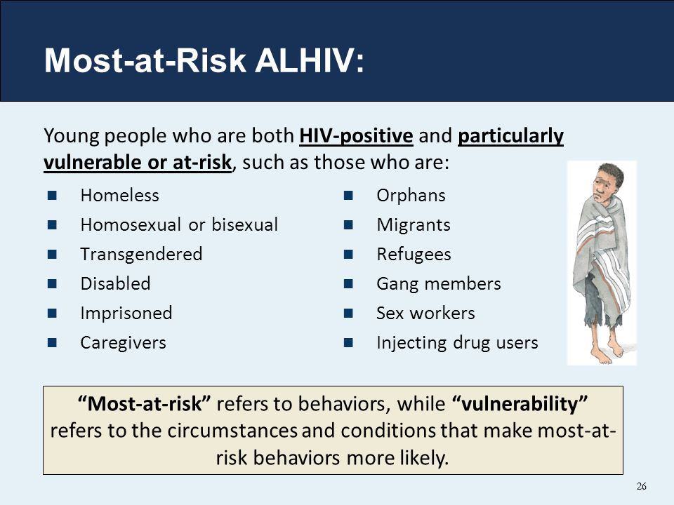 Most-at-Risk ALHIV: Young people who are both HIV-positive and particularly vulnerable or at-risk, such as those who are: