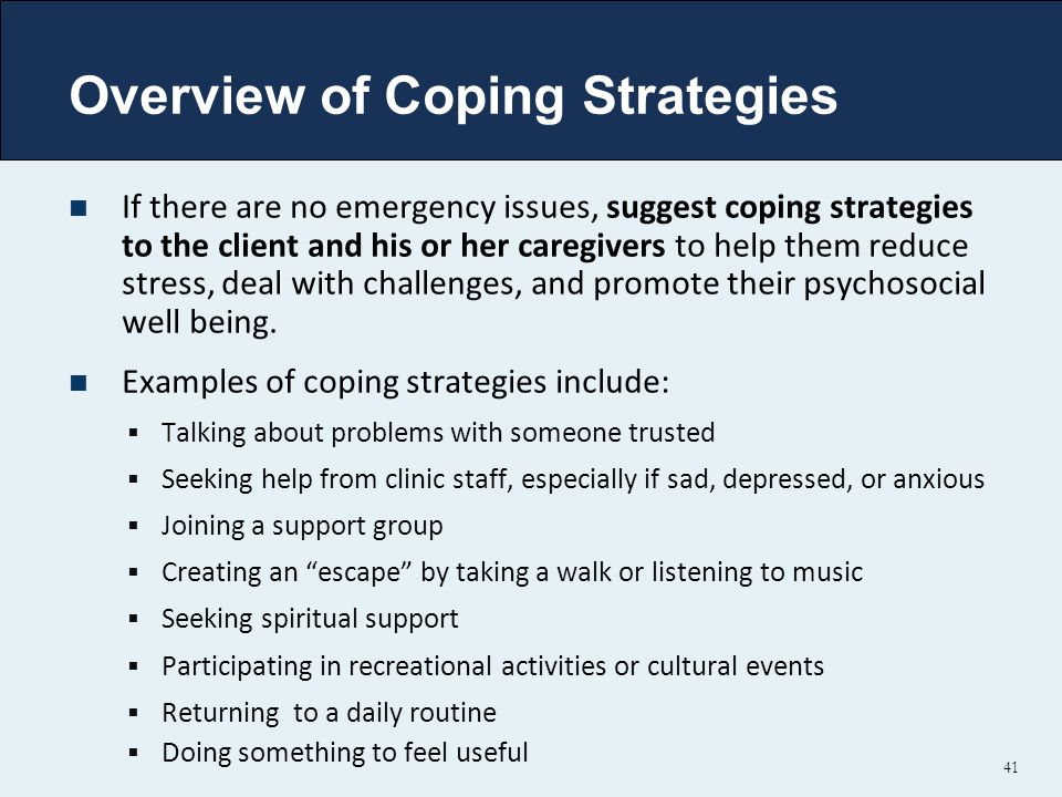 Overview of Coping Strategies