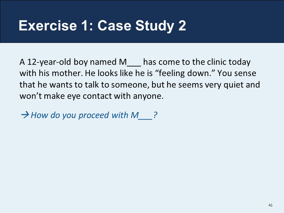 Exercise 1: Case Study 2