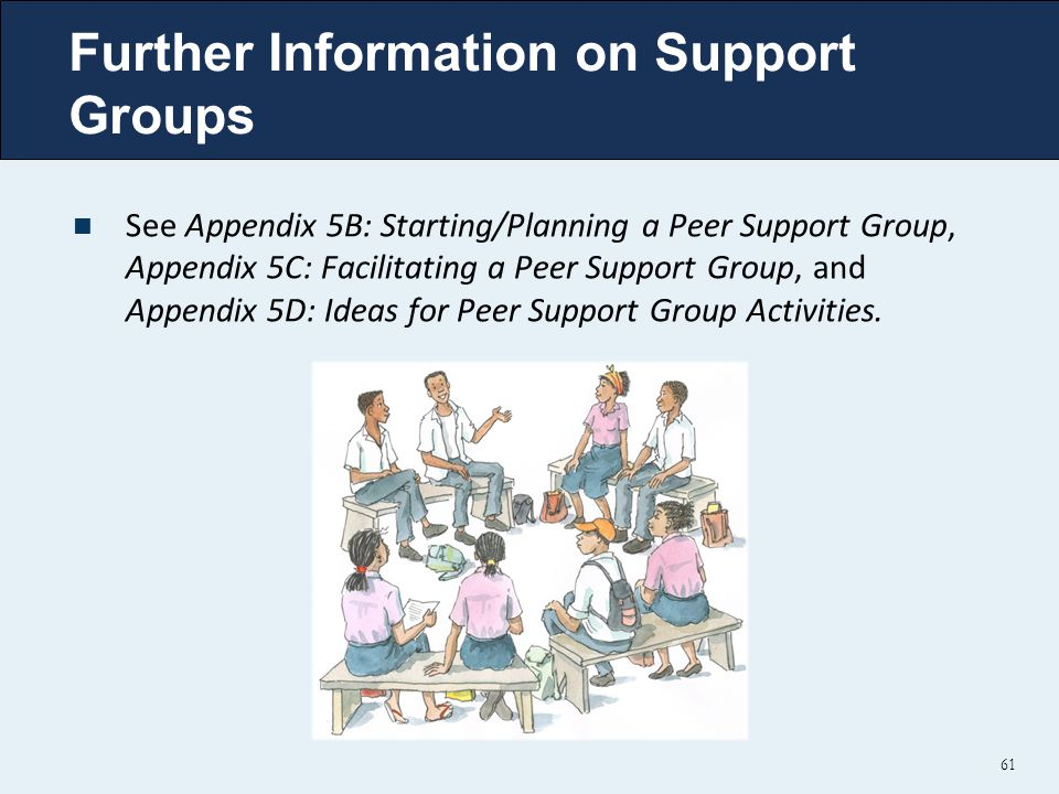 Further Information on Support Groups