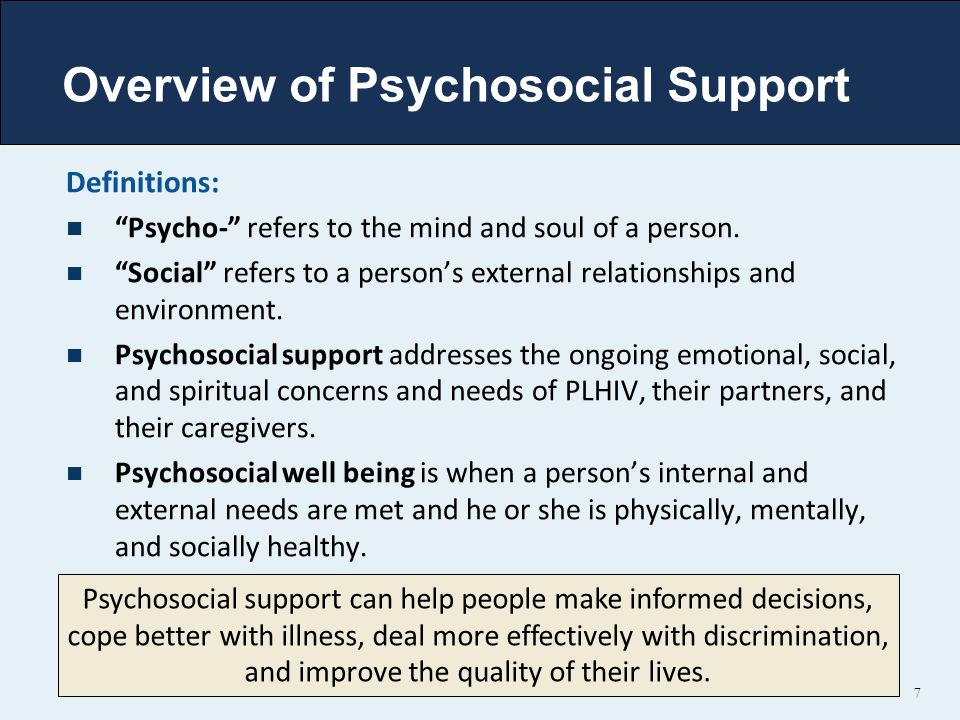 Overview of Psychosocial Support