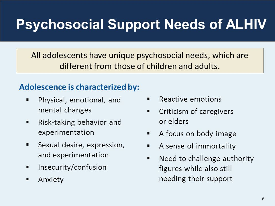 Psychosocial Support Needs of ALHIV