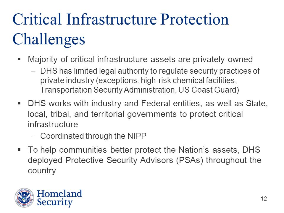 Critical Infrastructure Protection Challenges
