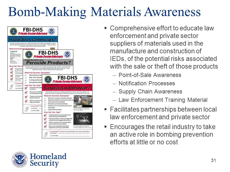 Bomb-Making Materials Awareness