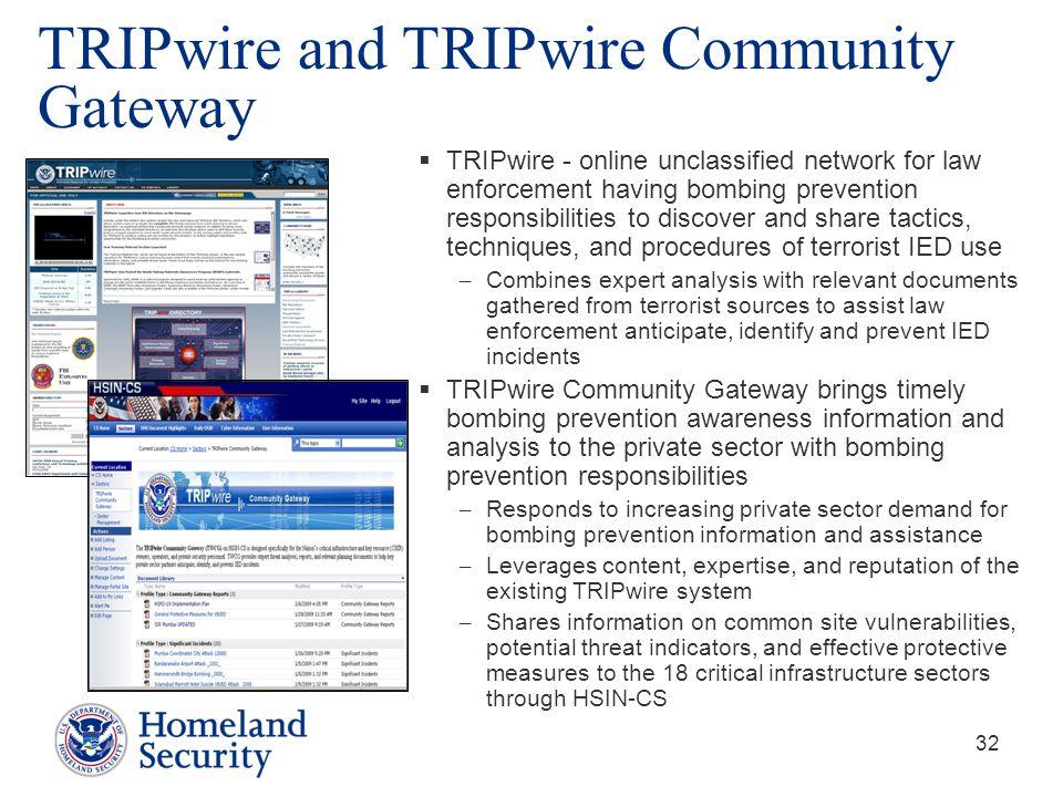 TRIPwire and TRIPwire Community Gateway