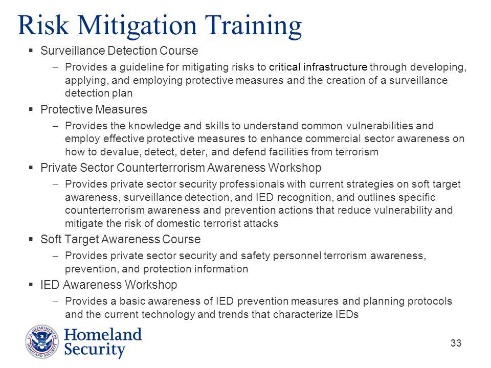 Risk Mitigation Training