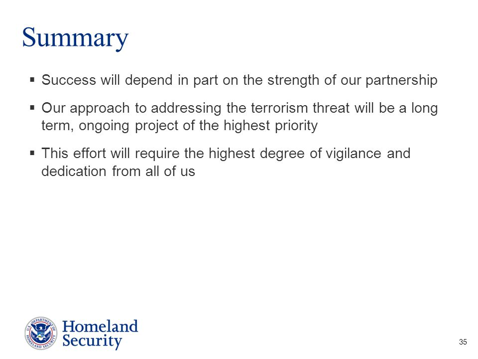 Summary Success will depend in part on the strength of our partnership