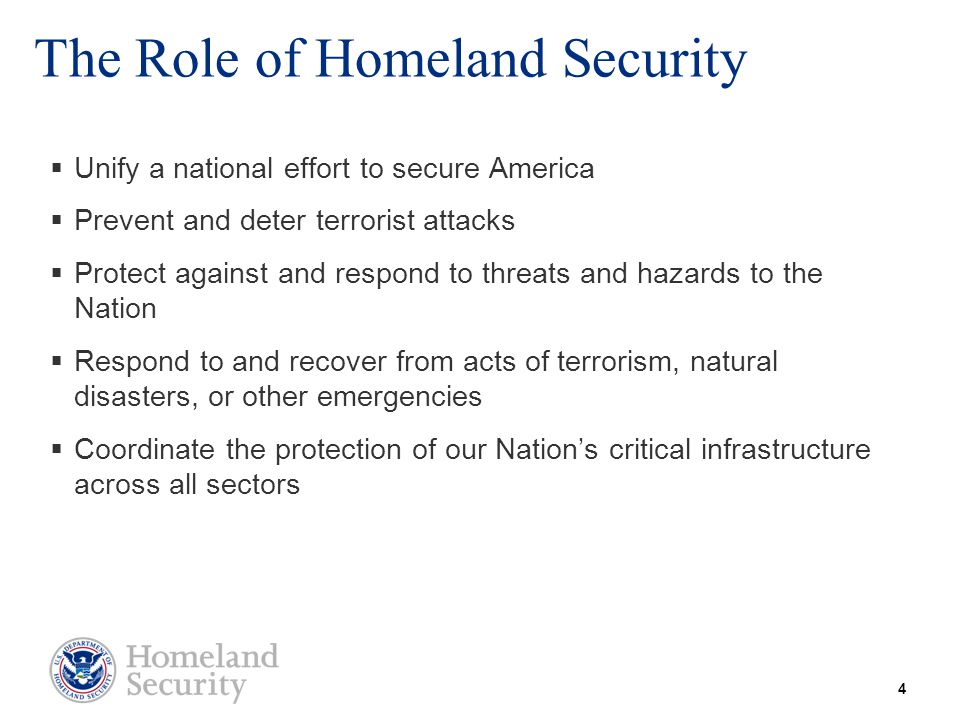 The Role of Homeland Security