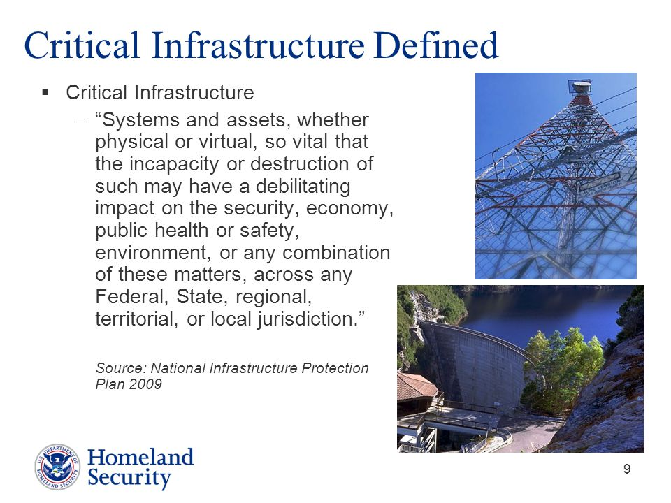 Critical Infrastructure Defined