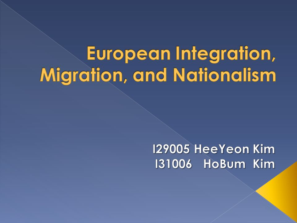 European Integration, Migration, and Nationalism