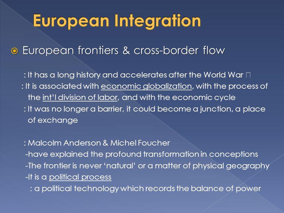 European Integration European frontiers & cross-border flow