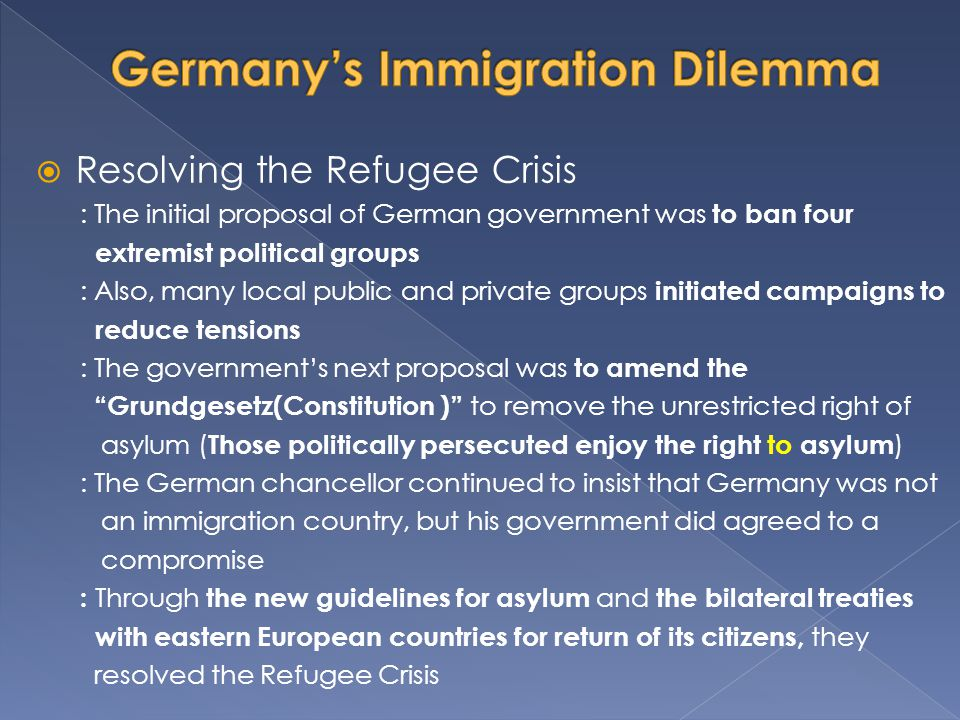 Germany's Immigration Dilemma