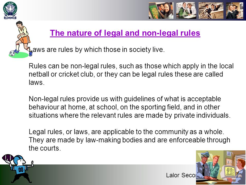 The nature of legal and non-legal rules