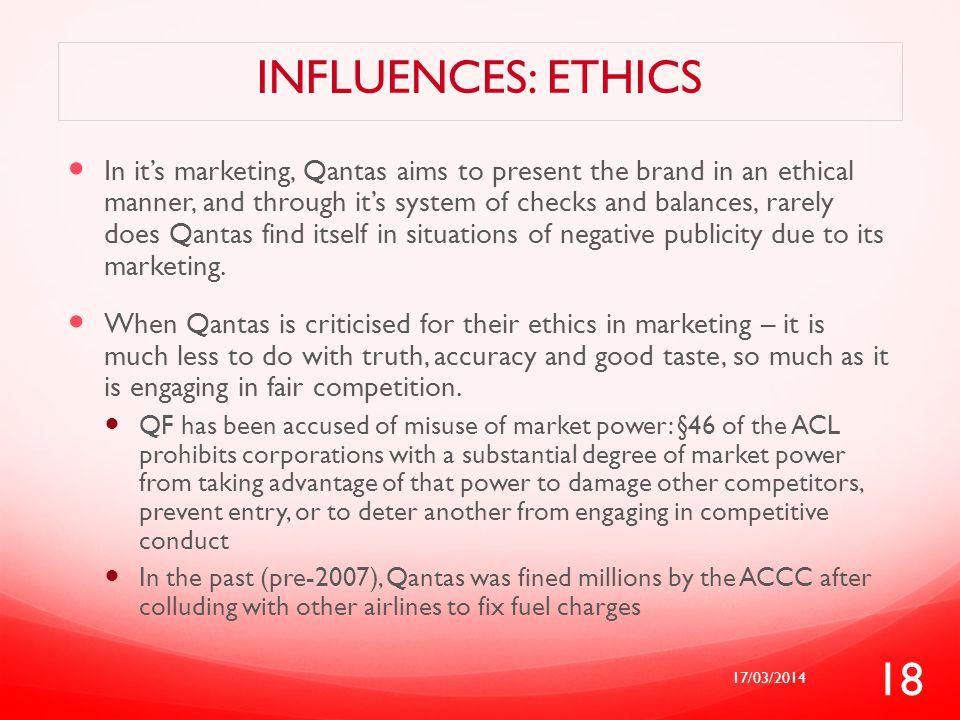 Influences: ethics