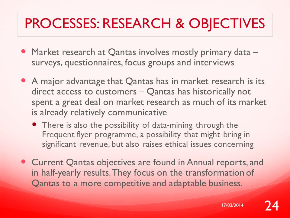 Processes: Research & objectives