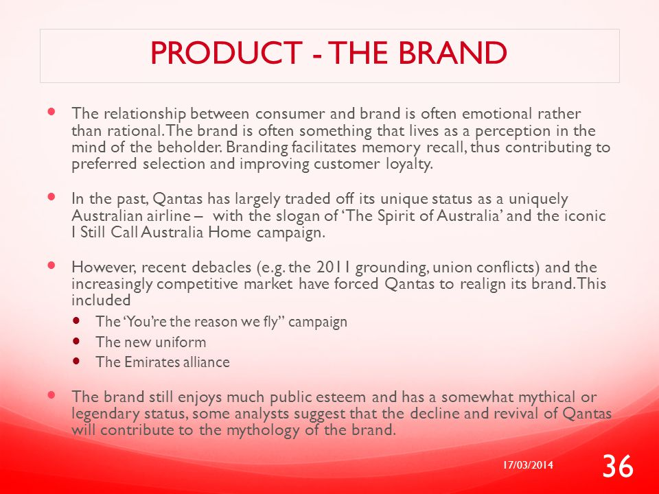 Product - The brand