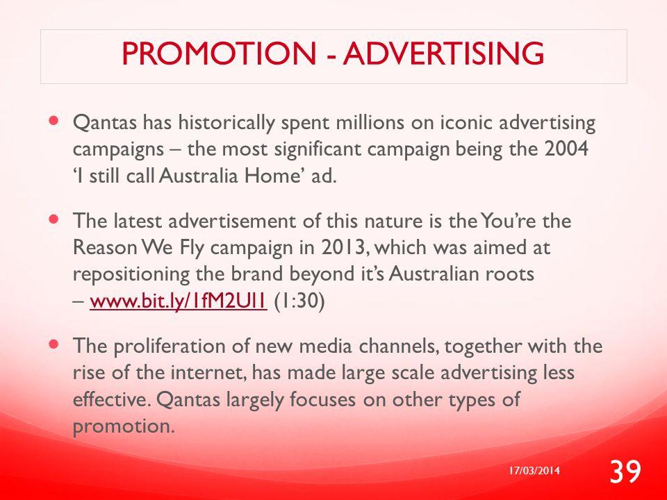 Promotion - advertising