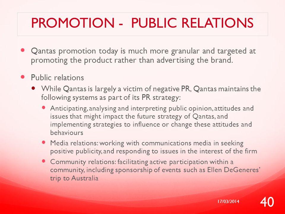 Promotion - public relations