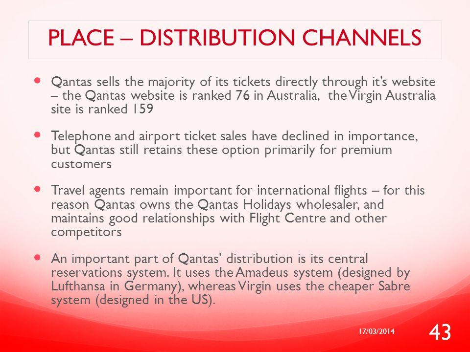 Place – distribution channels