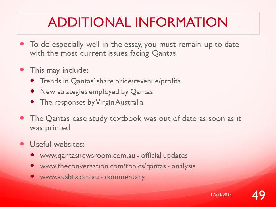 qantas cas study notes