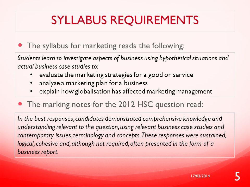 Syllabus requirements