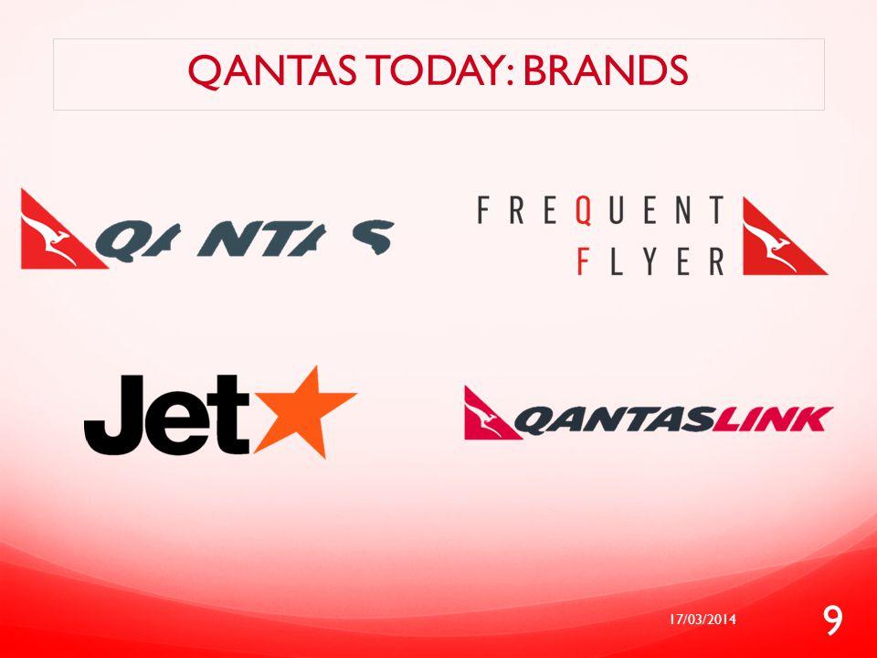 Qantas today: brands 17/03/2014