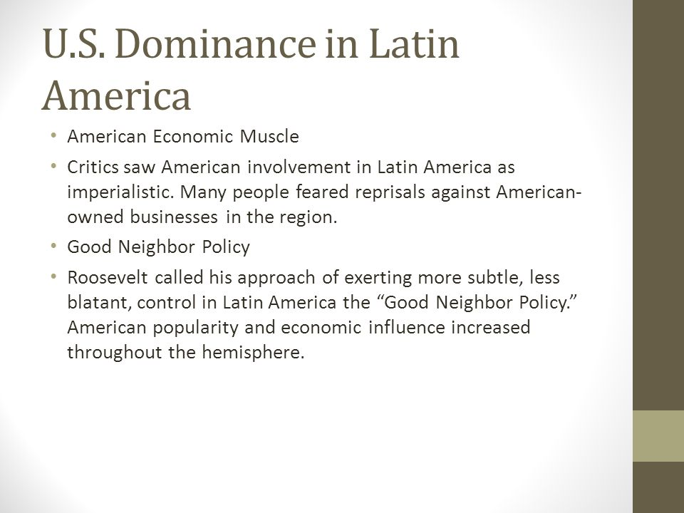 U.S. Dominance in Latin America